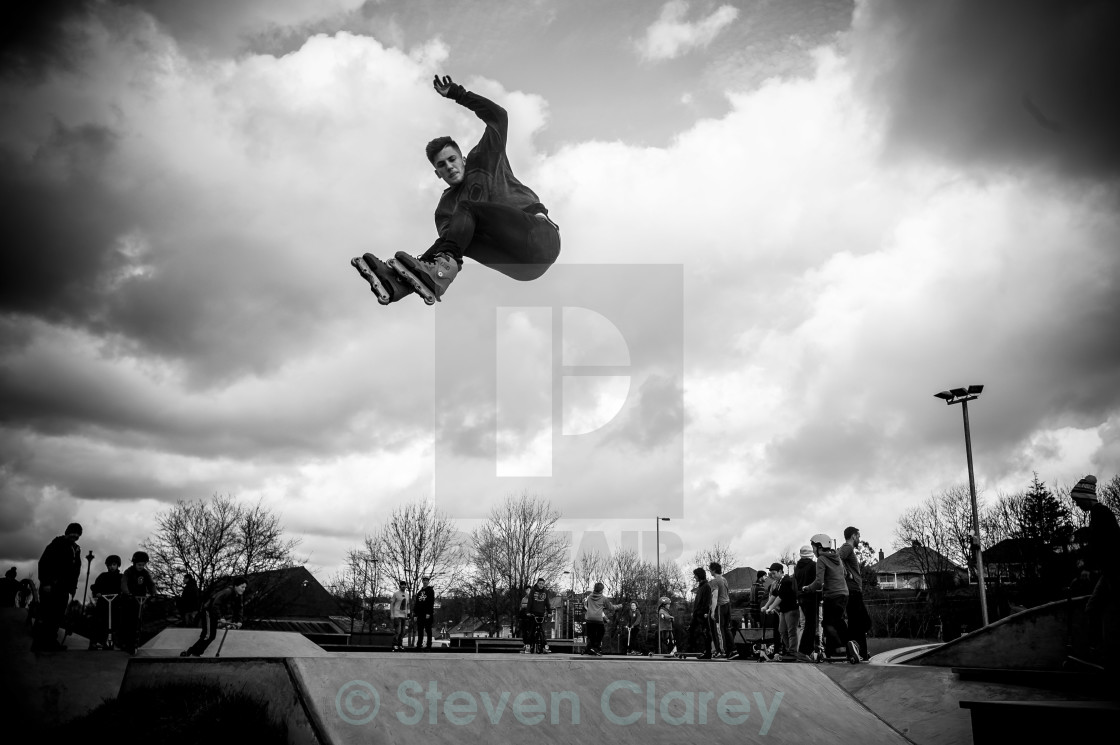 """Skatepark Air"" stock image"