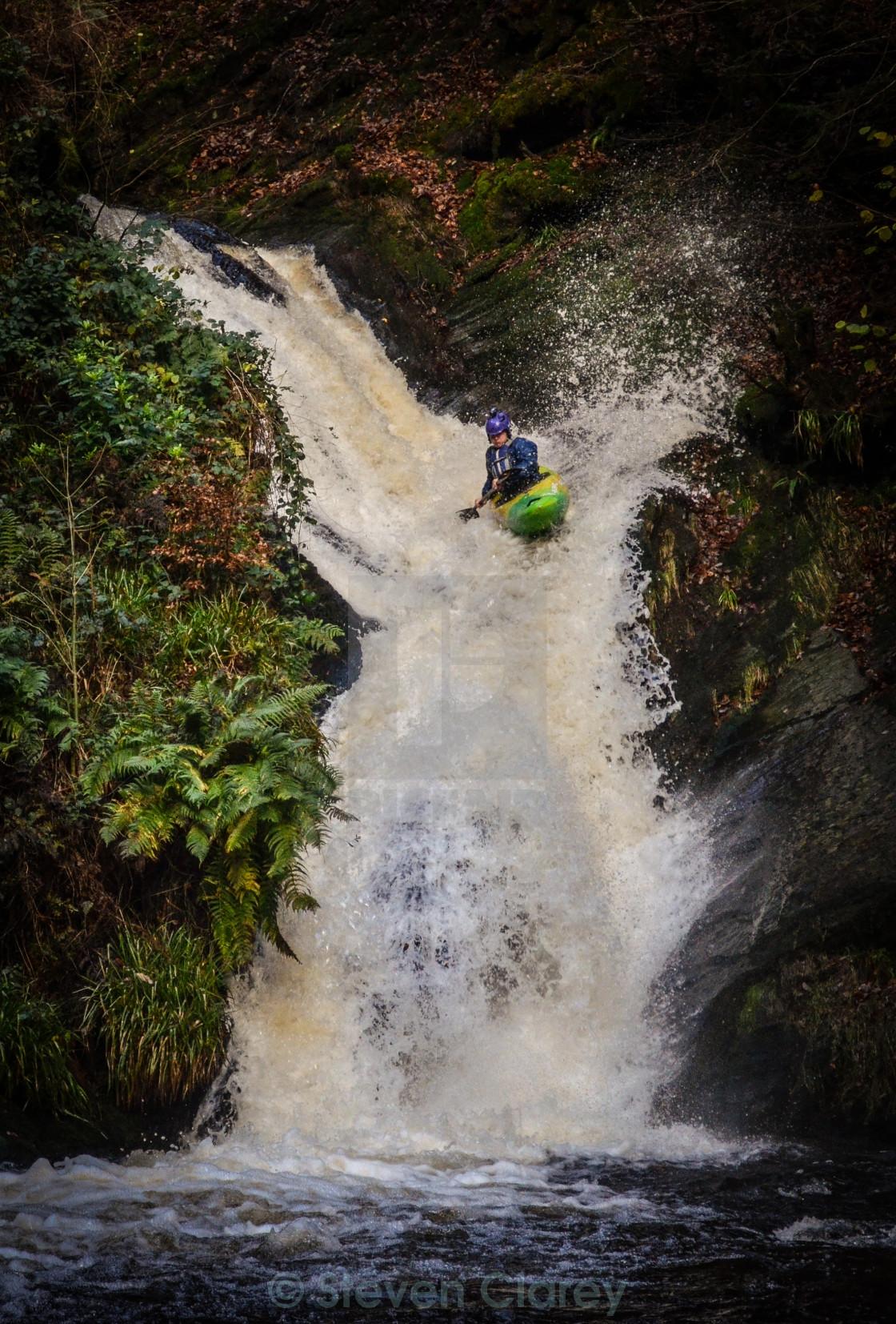 """""""Gnarly Kayaking"""" stock image"""