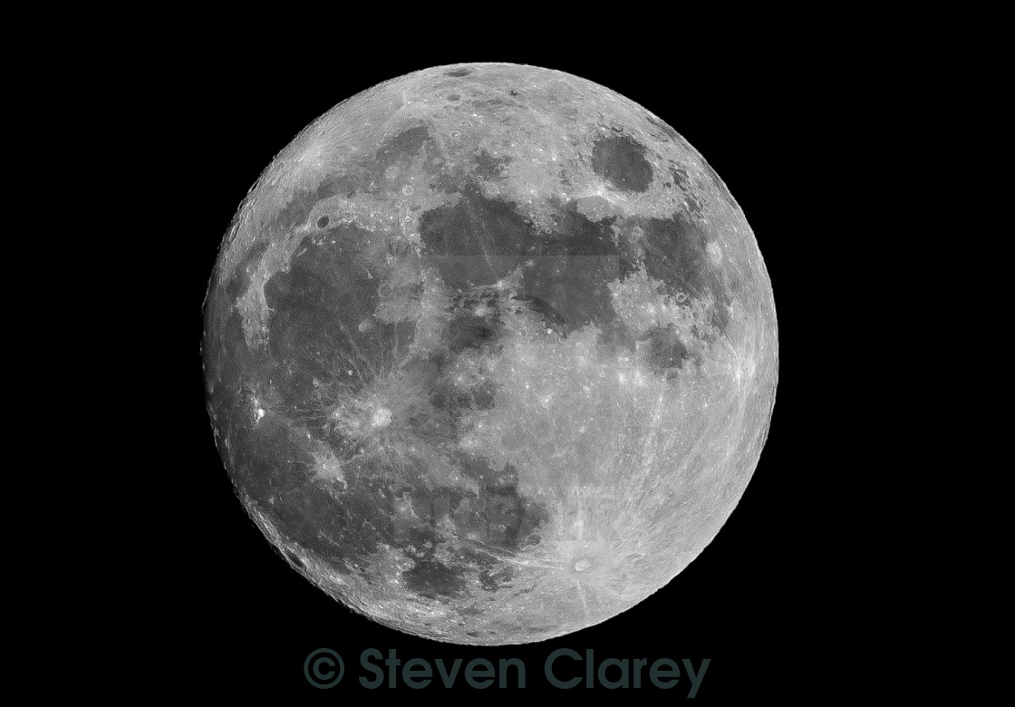 """Xmas Eve Moon"" stock image"