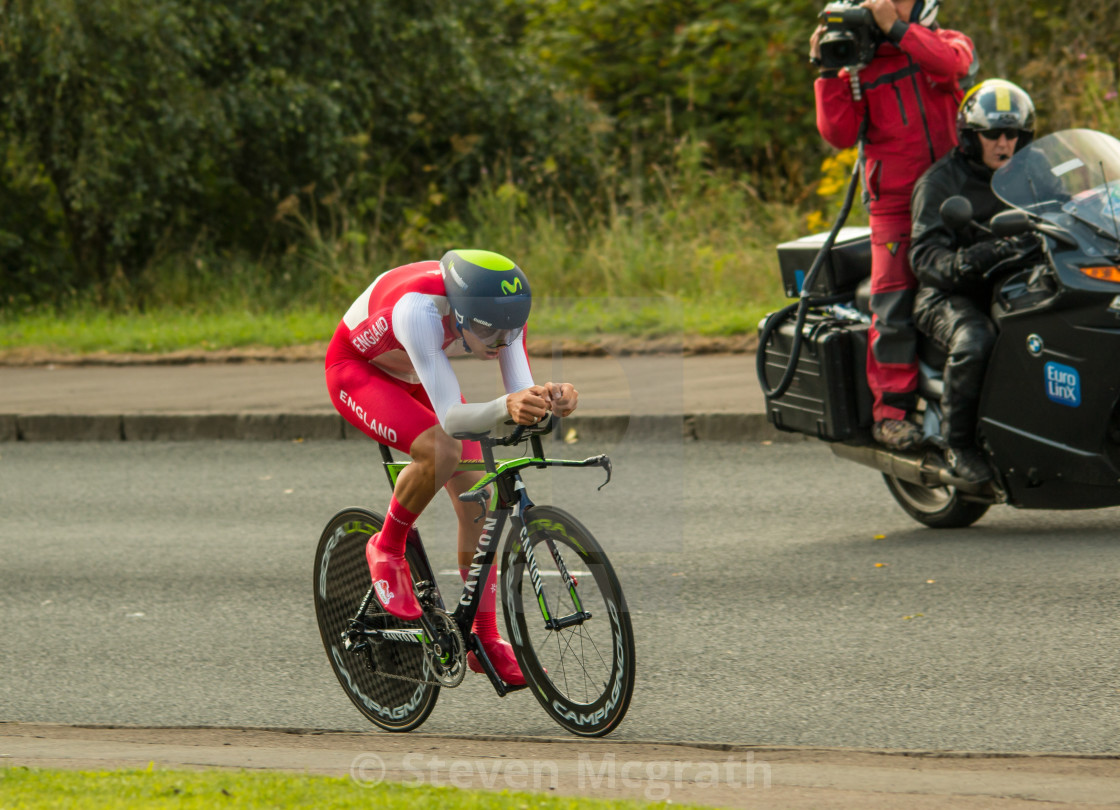 """Glasgow Commonwealth games cycling trial"" stock image"