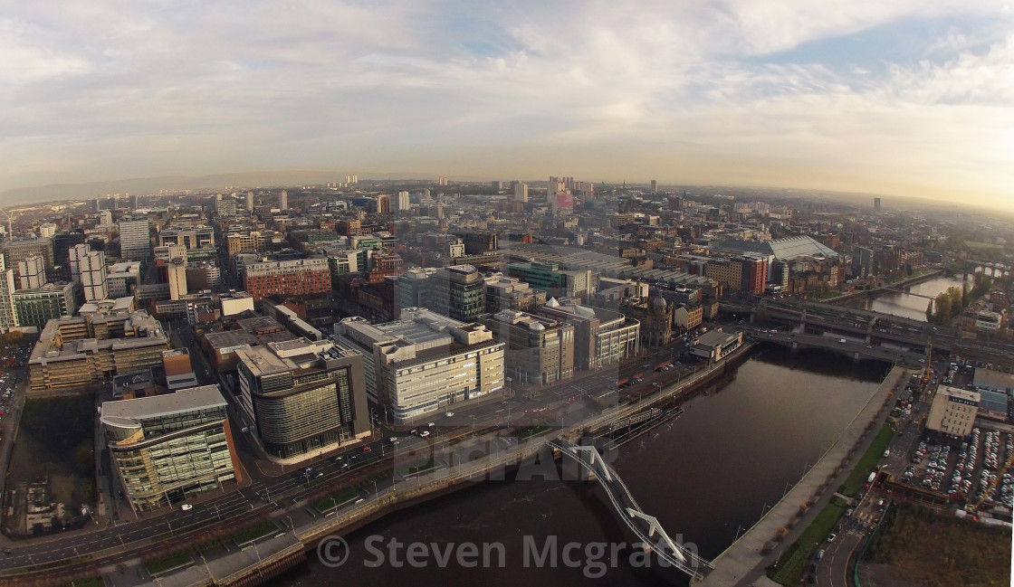 """""""Glasgow from the air"""" stock image"""