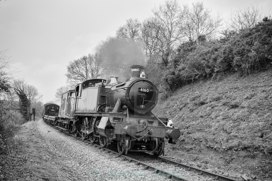 """GWR 2-6-2T No.5101"" stock image"
