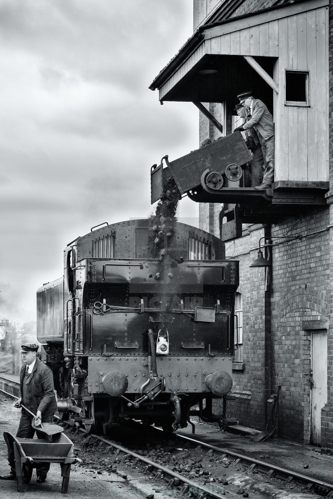 """The coaling stage"" stock image"