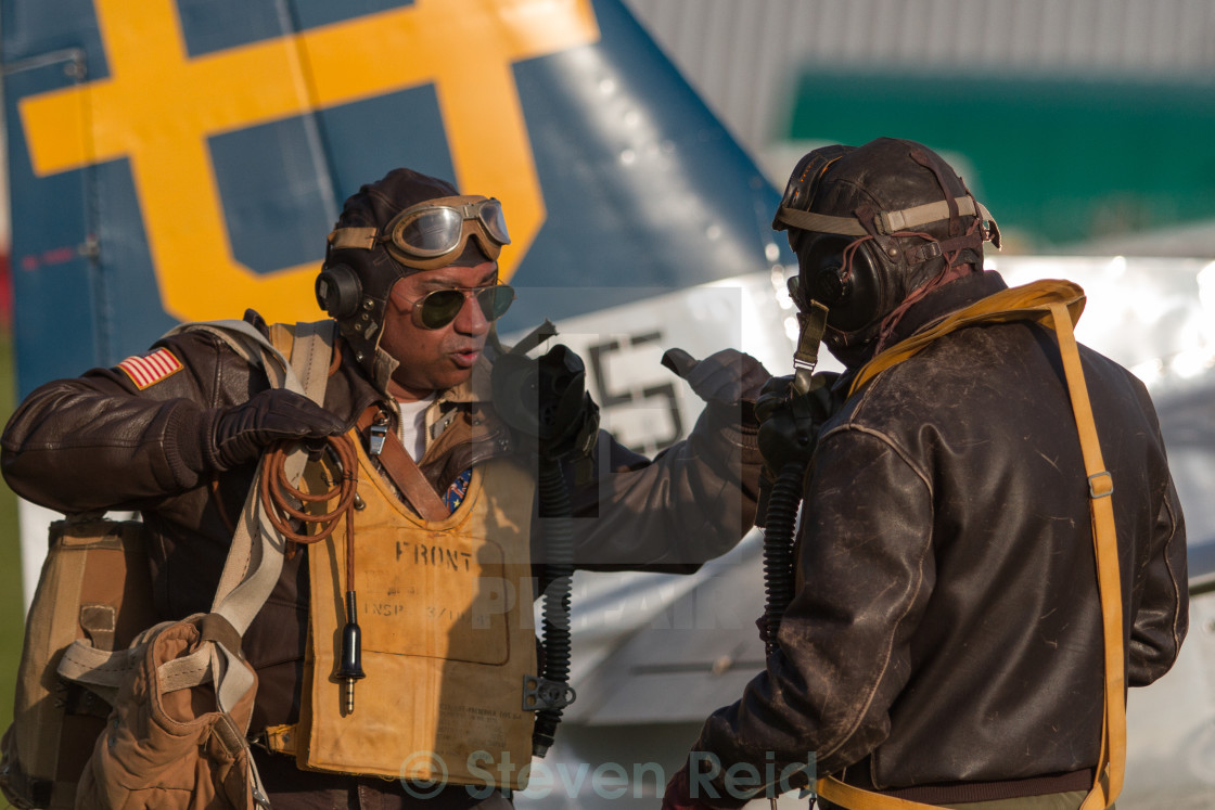 """Pilot debrief"" stock image"