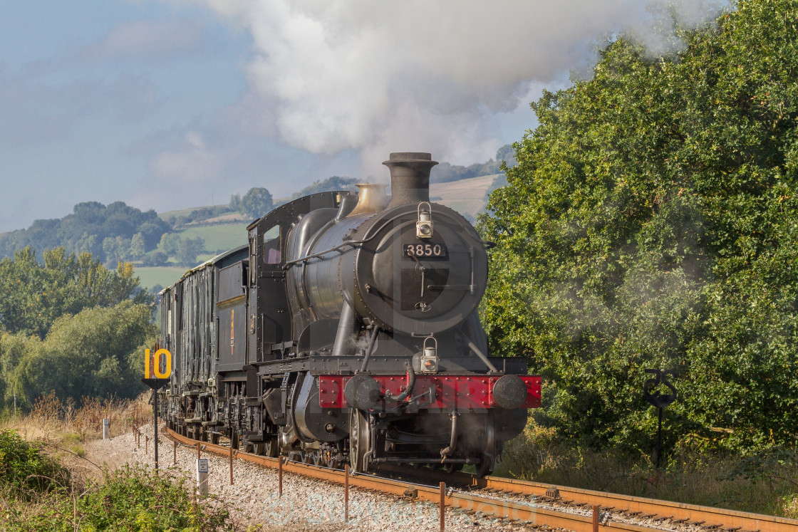 """GWR 2-8-0 No.3850"" stock image"