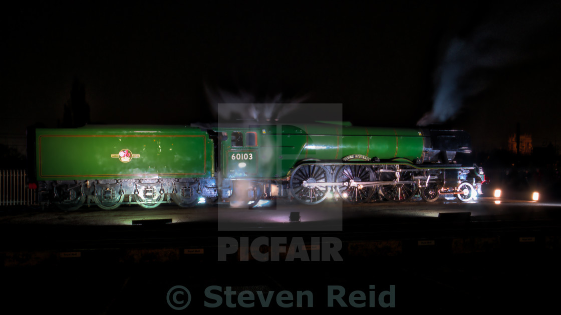 """Scotsman at night"" stock image"