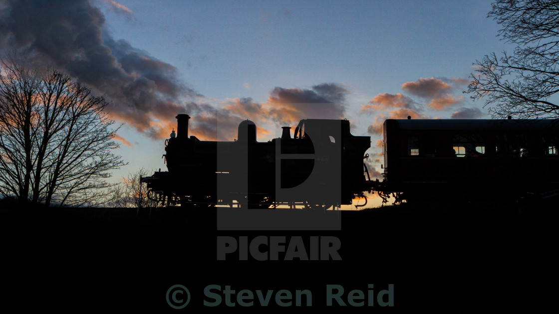 """Silhouette of steam"" stock image"