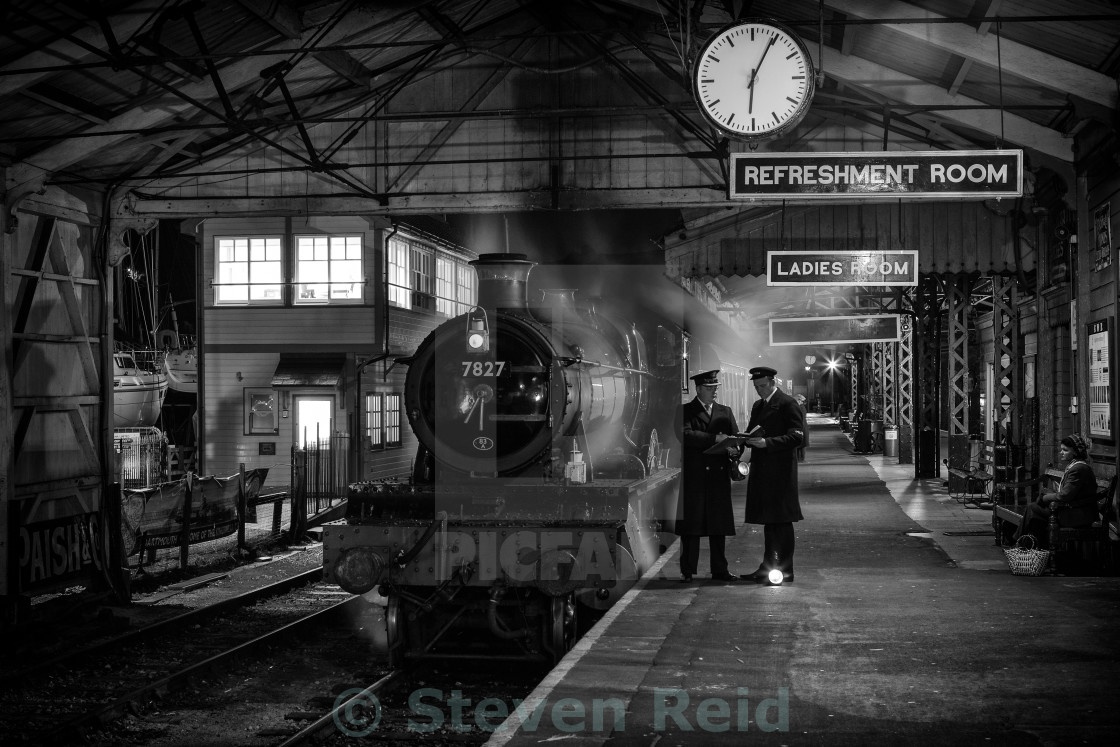 """Night at the Station"" stock image"