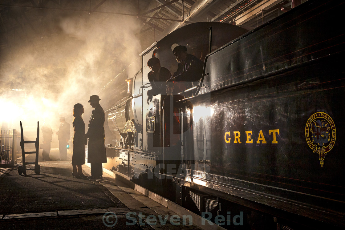 """Vintage Steam"" stock image"
