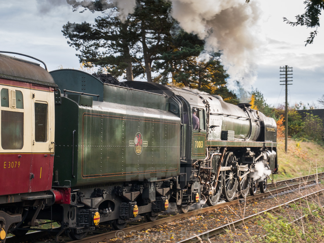 """Oliver Cromwell in steam"" stock image"