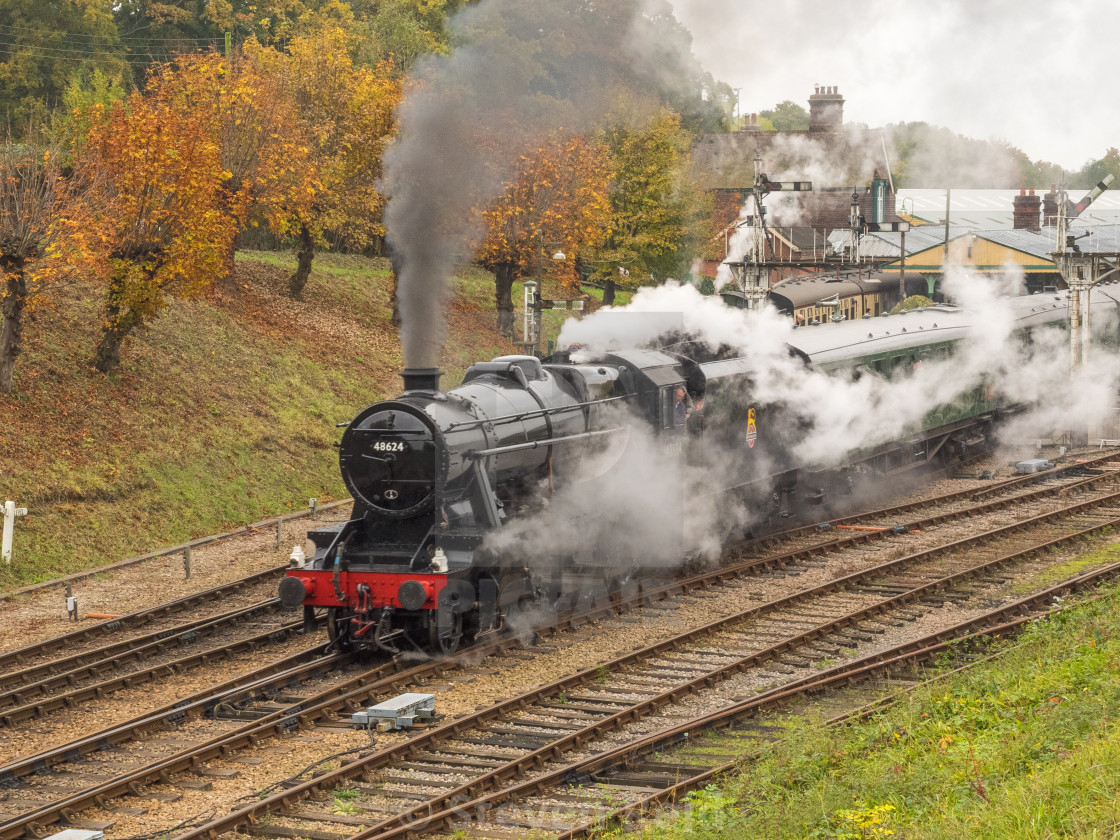 """LMS 8F No.48624"" stock image"
