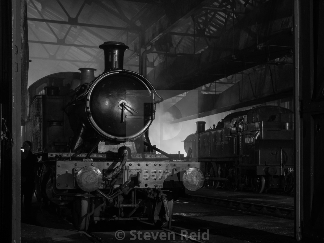 """Great Western Locomotive"" stock image"