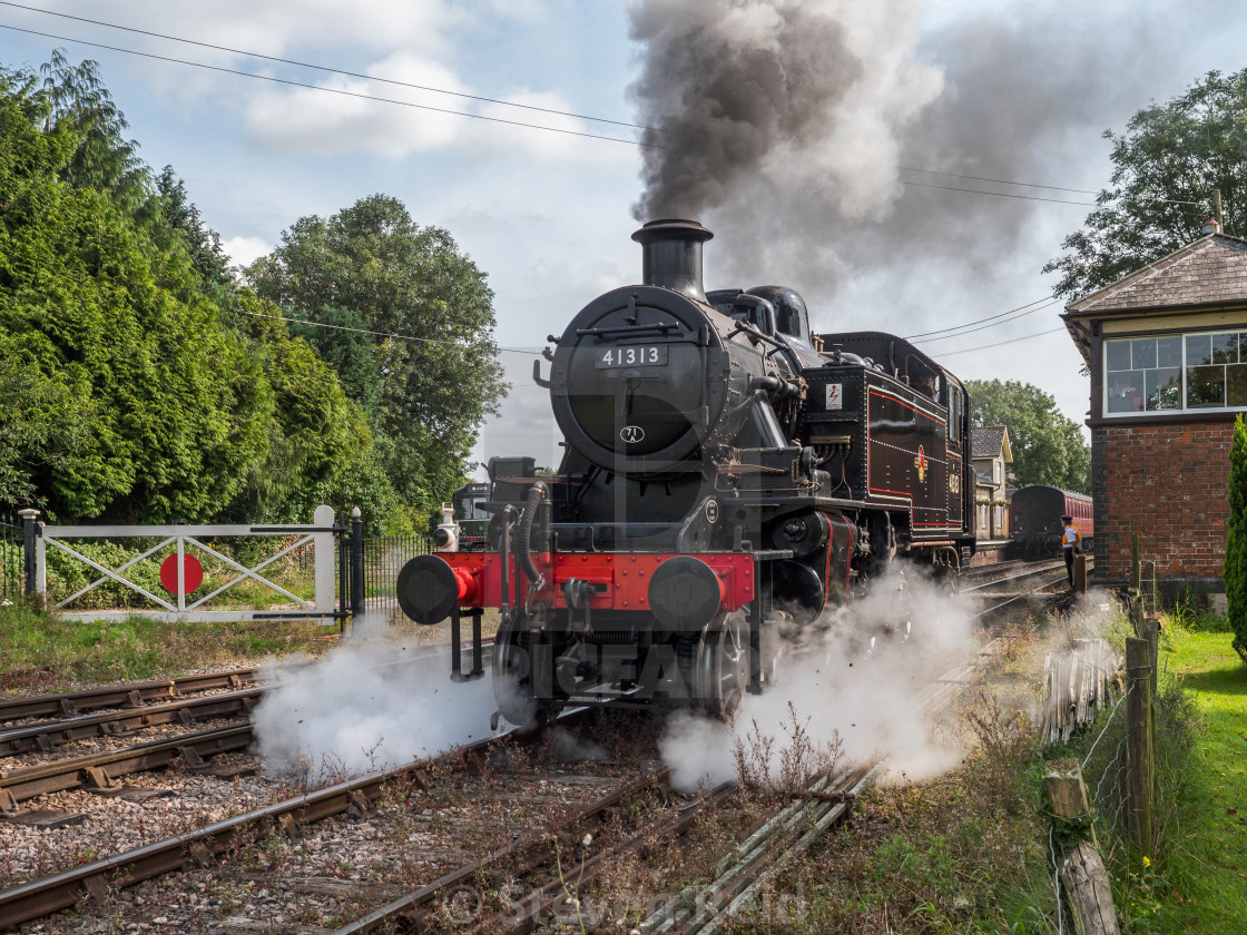 """Ivatt 2MT No.41313"" stock image"
