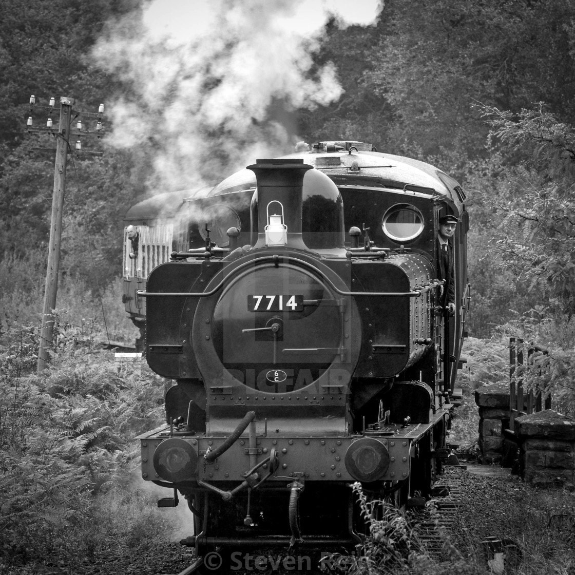"""GWR No.7714"" stock image"