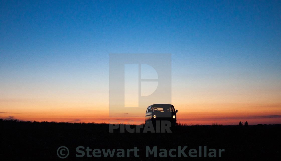 """VW sunset"" stock image"