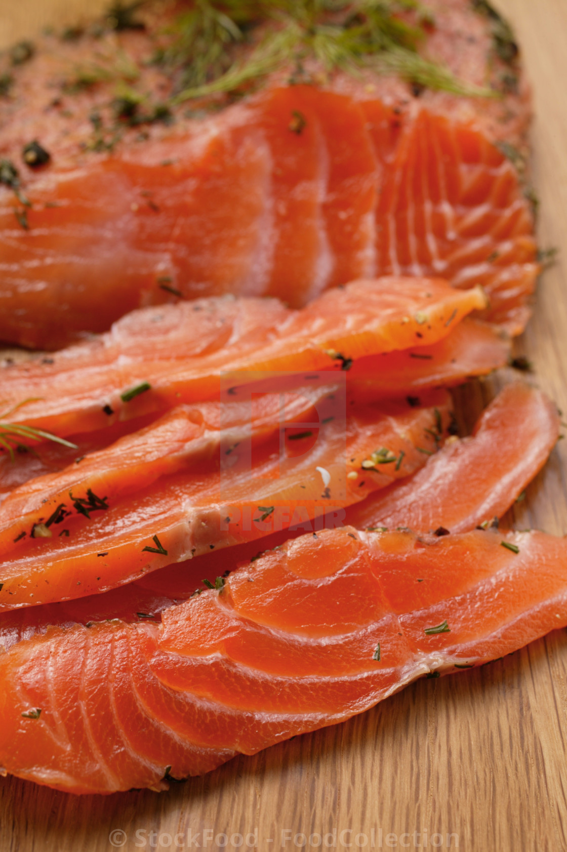"""Graved lachs with dill"" stock image"