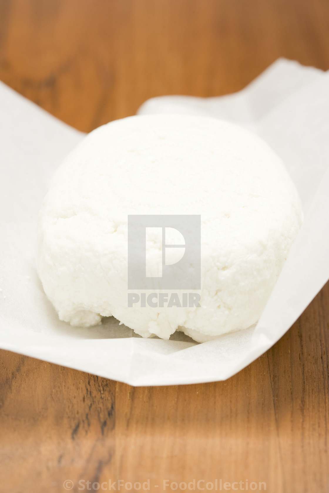 """Ricotta on paper"" stock image"