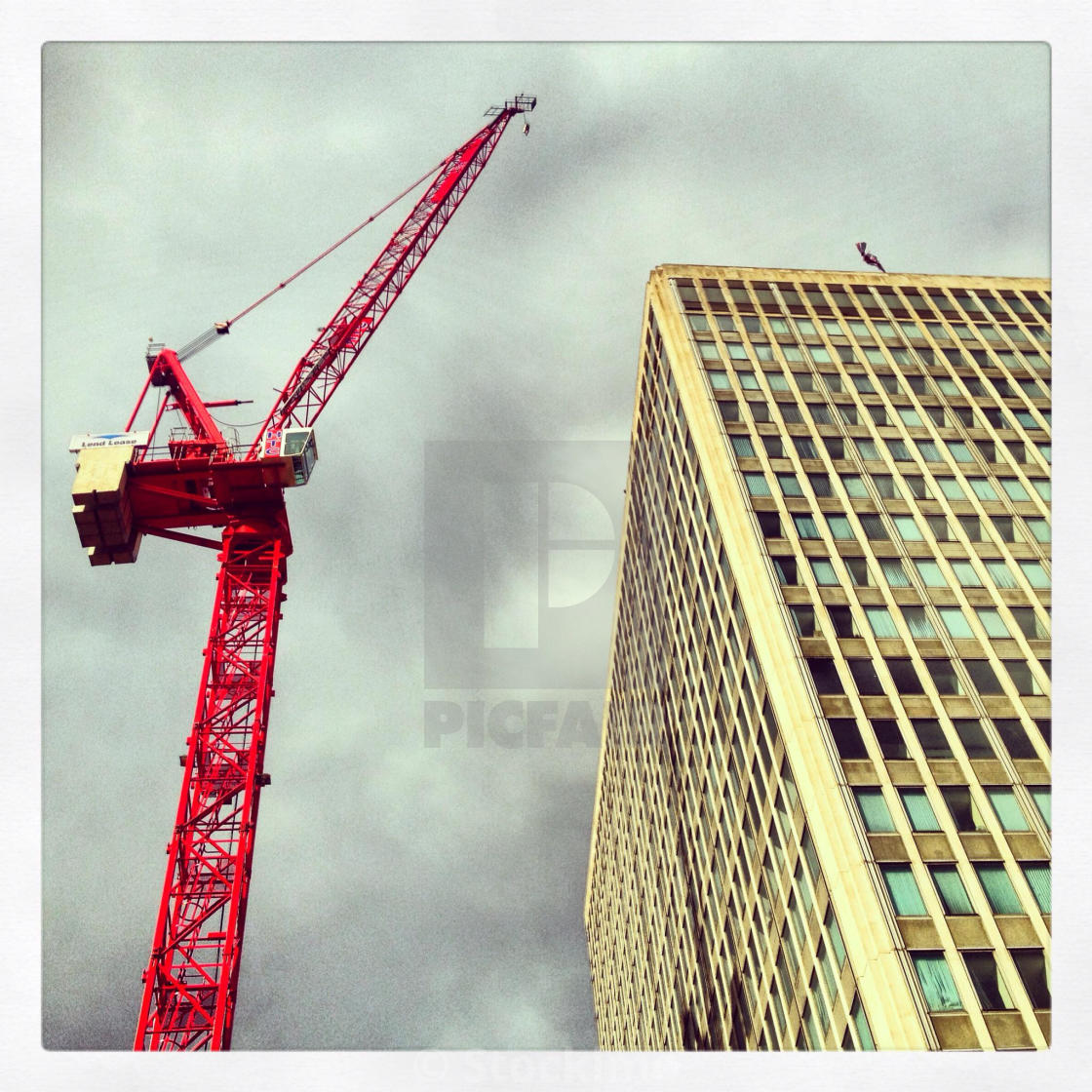 Crane on Victoria Street - License, download or print for