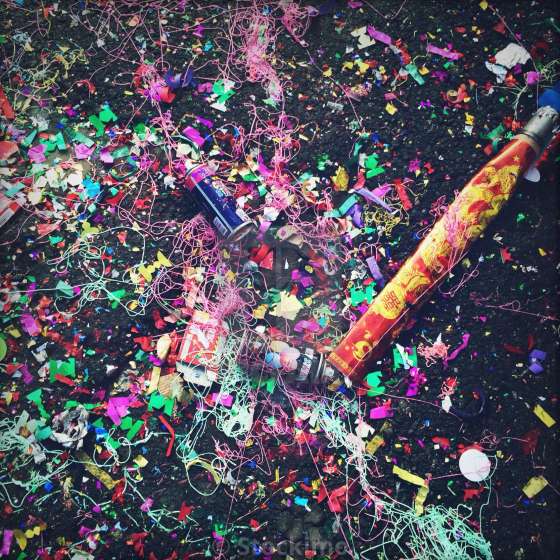 """""""Chinese a New Year aftermath."""" stock image"""
