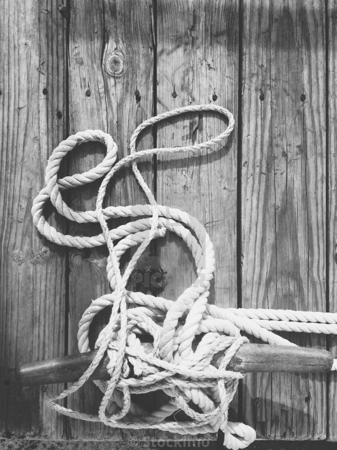 Rookies tied down on a dock in Portland Maine  - License, download