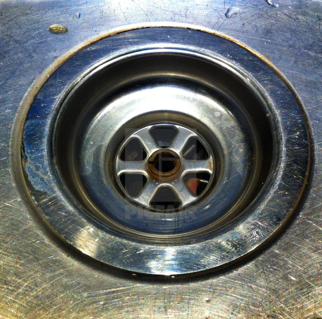 Stainless steel kitchen sink plug hole - License, download ...