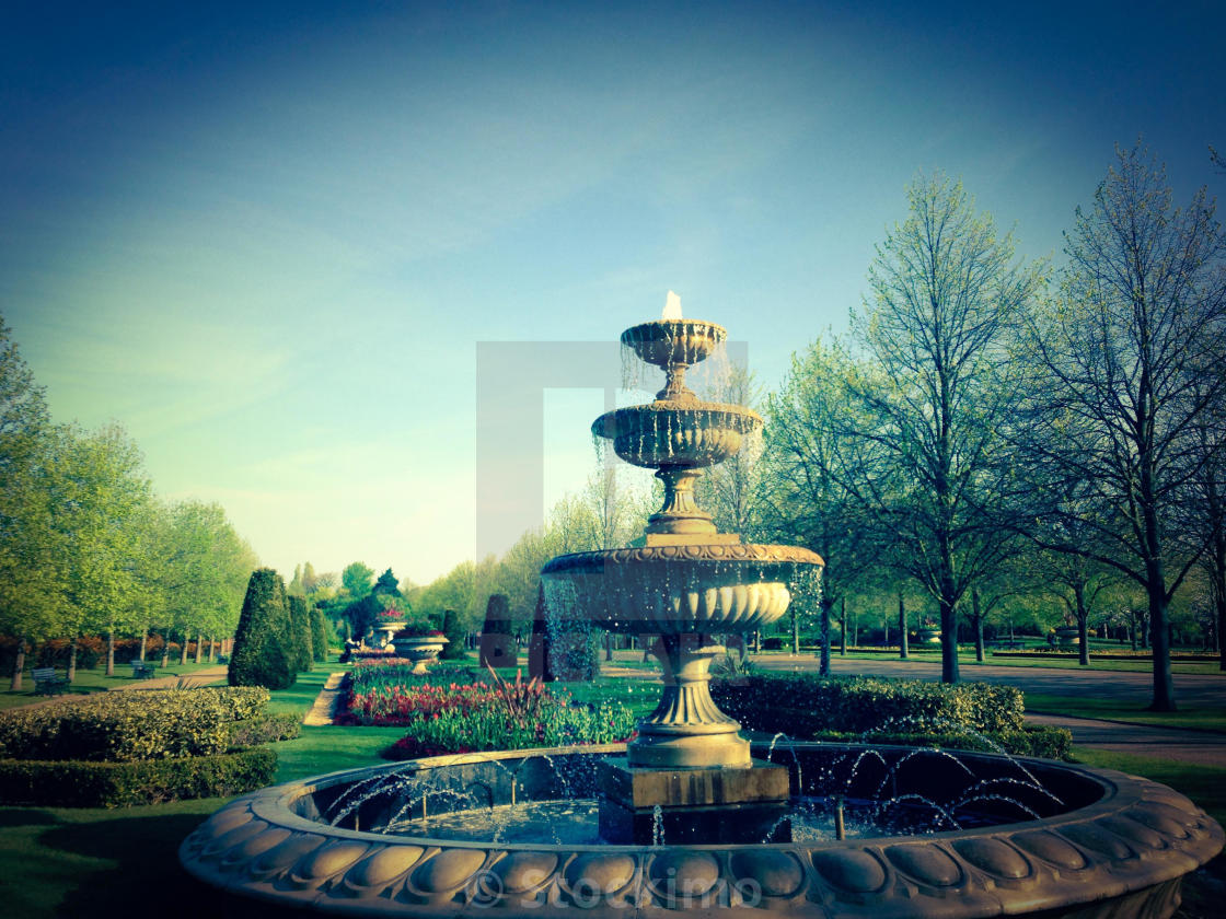 """Fountain in Regents Park"" stock image"