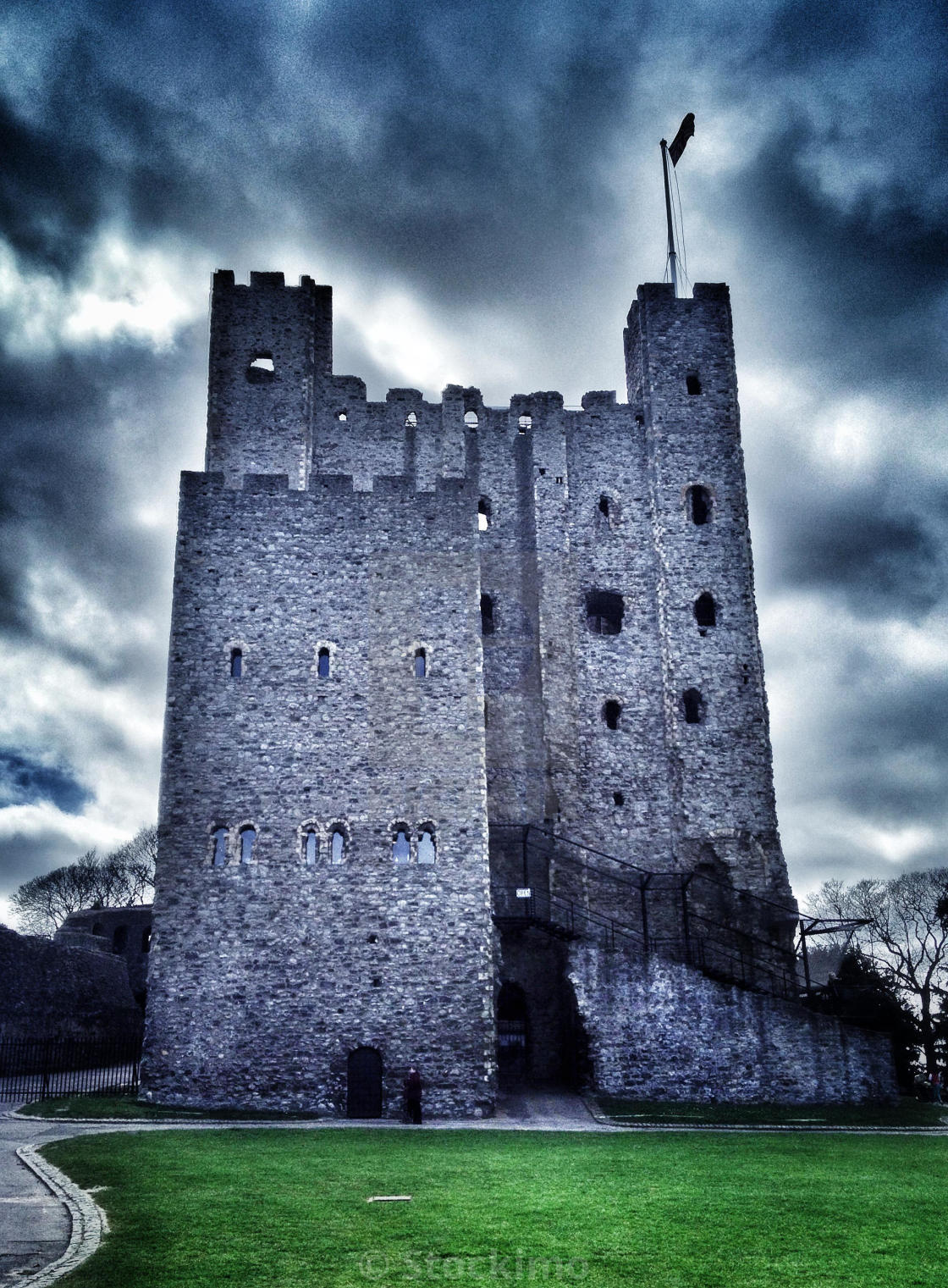 """Rochester Castle, Kent, England"" stock image"