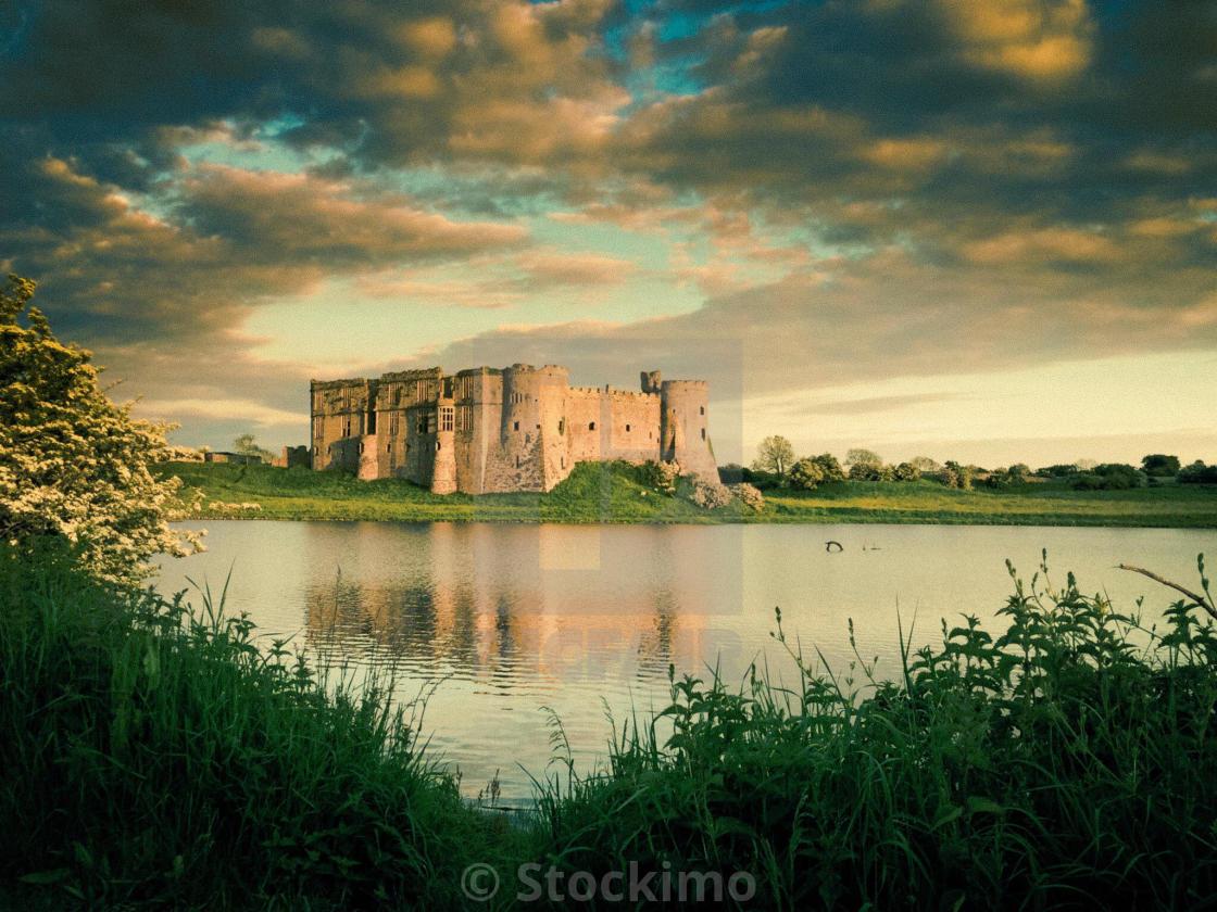 """Carew Castle Pembrokeshire"" stock image"