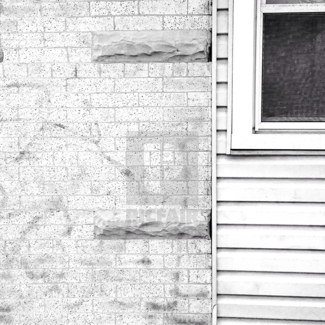 """""""Graffitied Brick and Siding, Brooklyn, NY"""" stock image"""