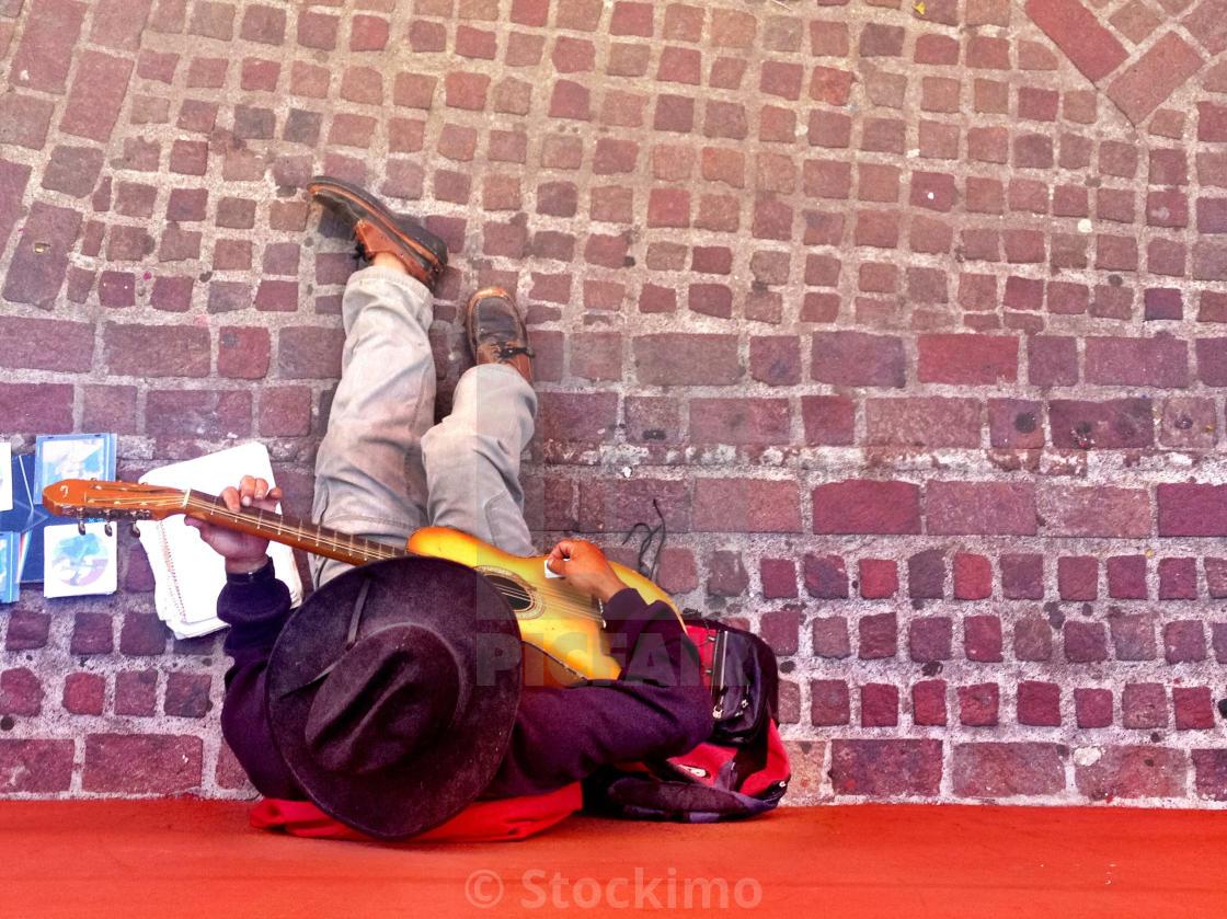 """""""Street musician, Guanajuato , Mexico"""" stock image"""