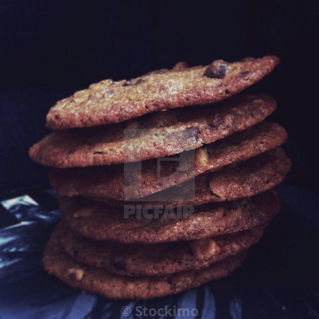 """biscuit with liquorish"" stock image"