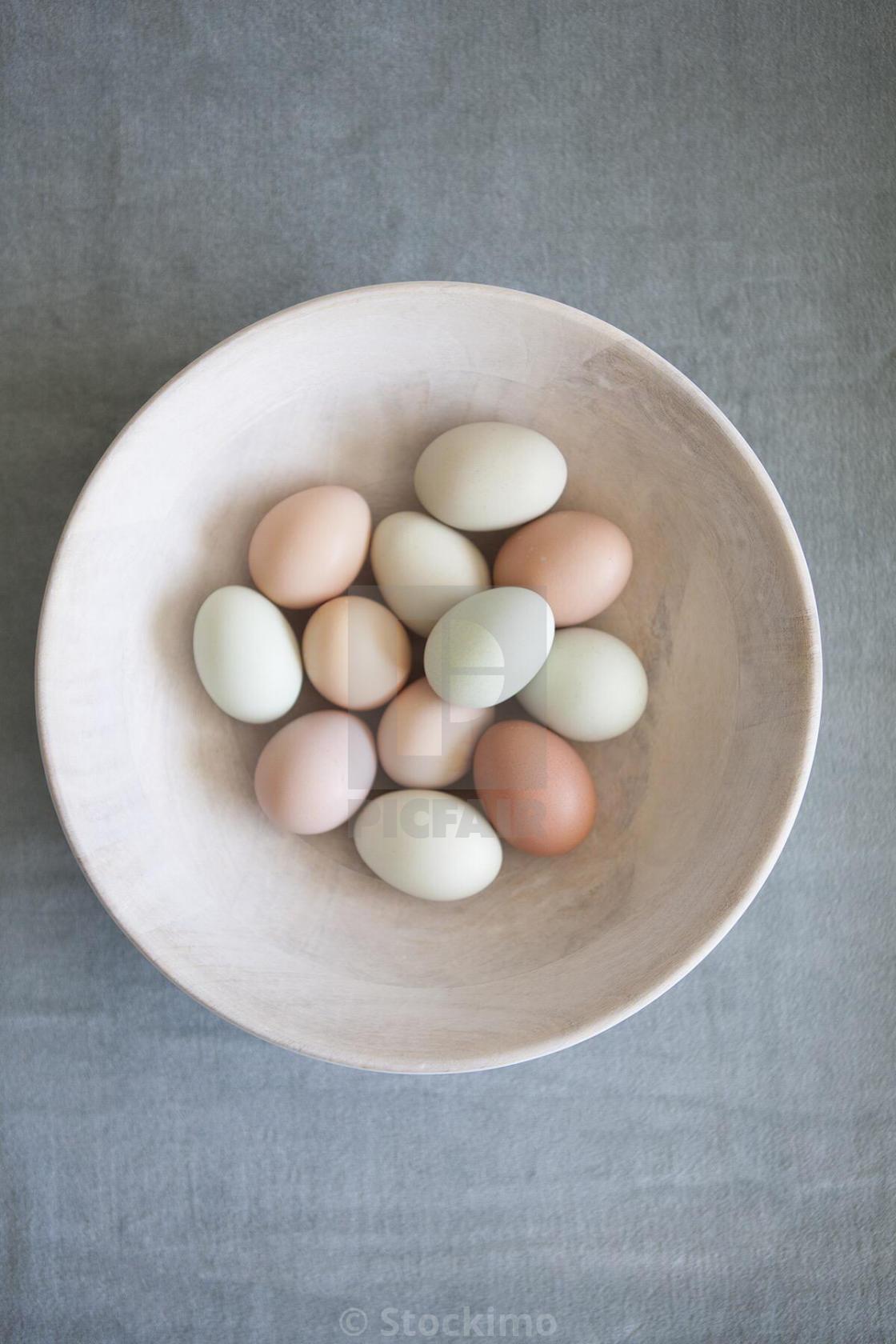 """Farm fresh eggs."" stock image"