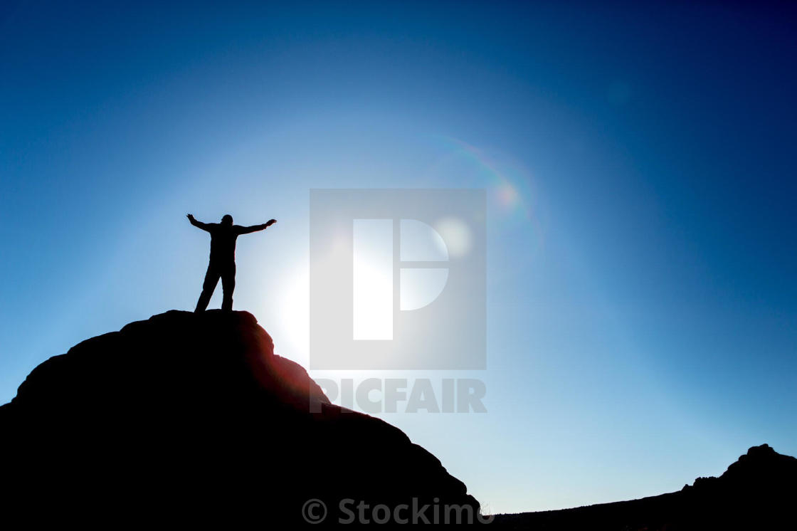"""""""Climb higher to achieve your dreams"""" stock image"""