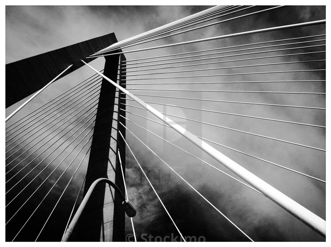 Ravenel bridge charleston sc stock image