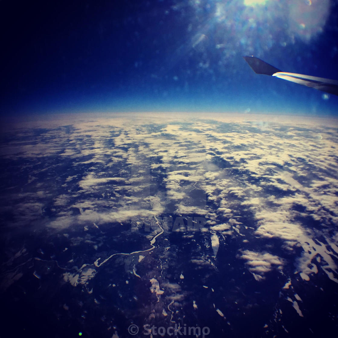 Looking out at the curvature of the earth - License, download or