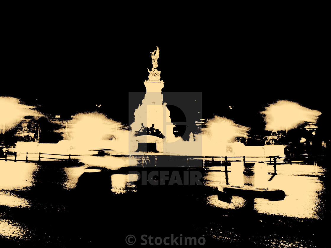 """""""London. Light in the night"""" stock image"""