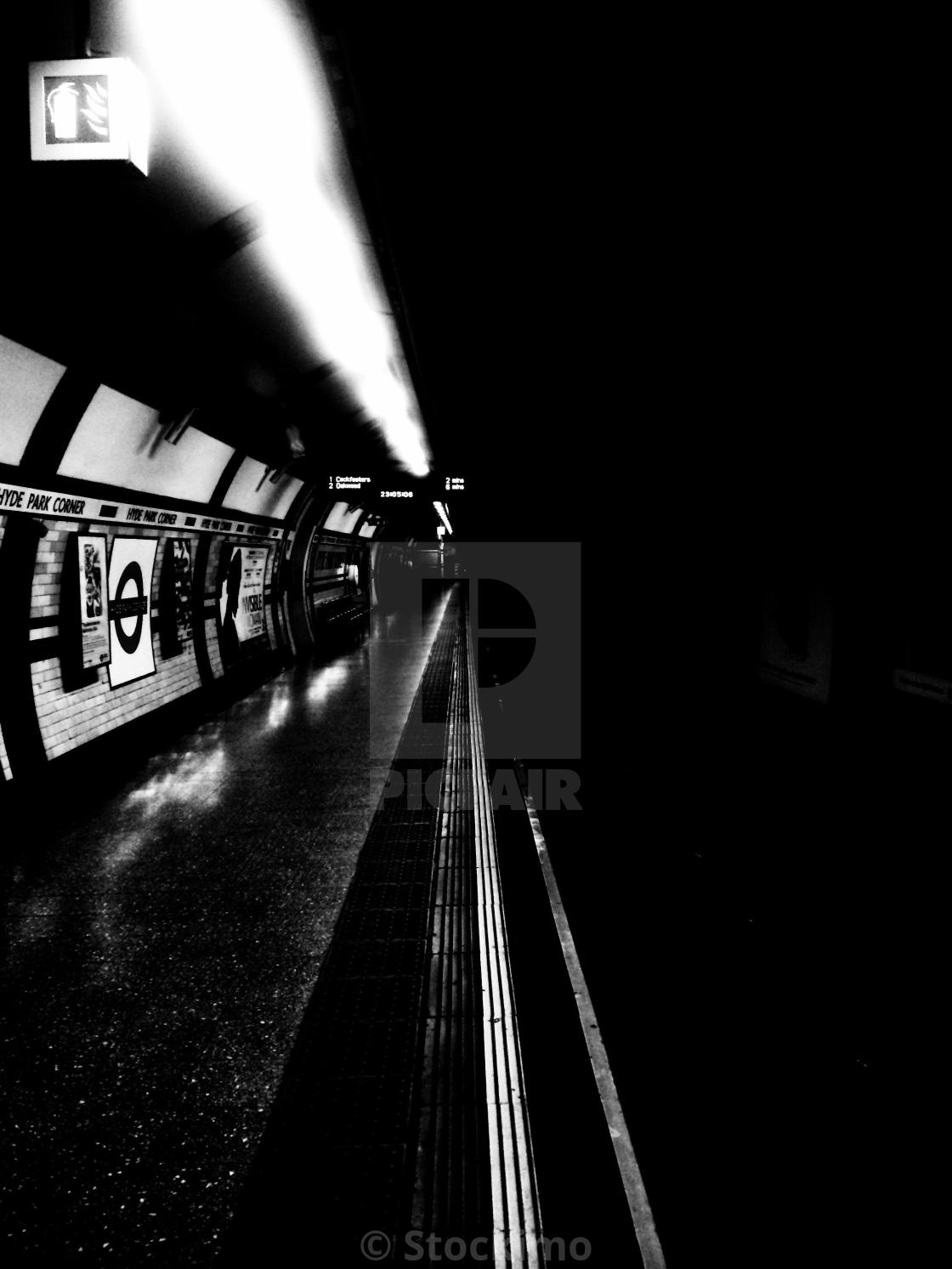 """London. Underground. The road to unknown"" stock image"