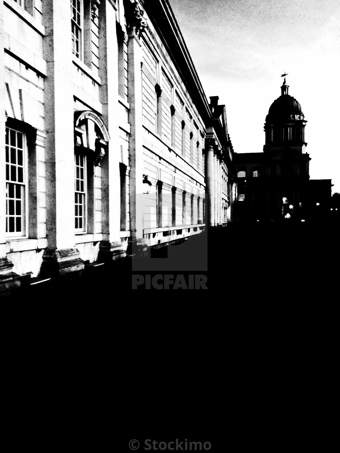 """""""London. Black ground and white walls"""" stock image"""
