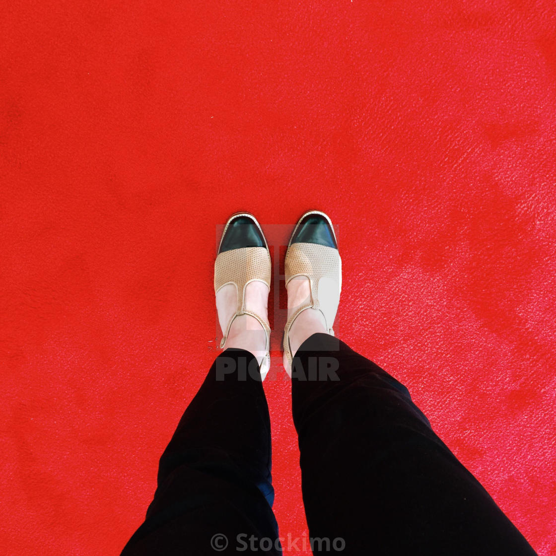 """On the red carpet"" stock image"