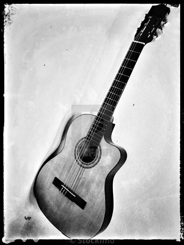 """Classical nylon guitar."" stock image"