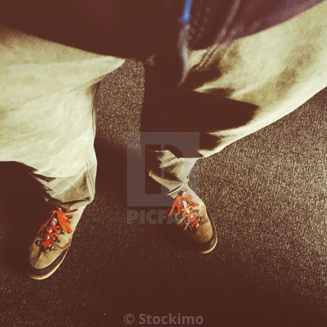 """A man standing and waiting"" stock image"