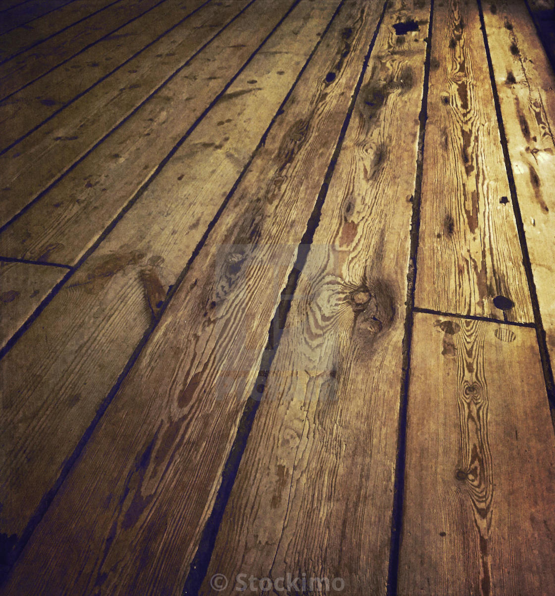 Old wooden floorboards - License, download or print for £31.00 ...
