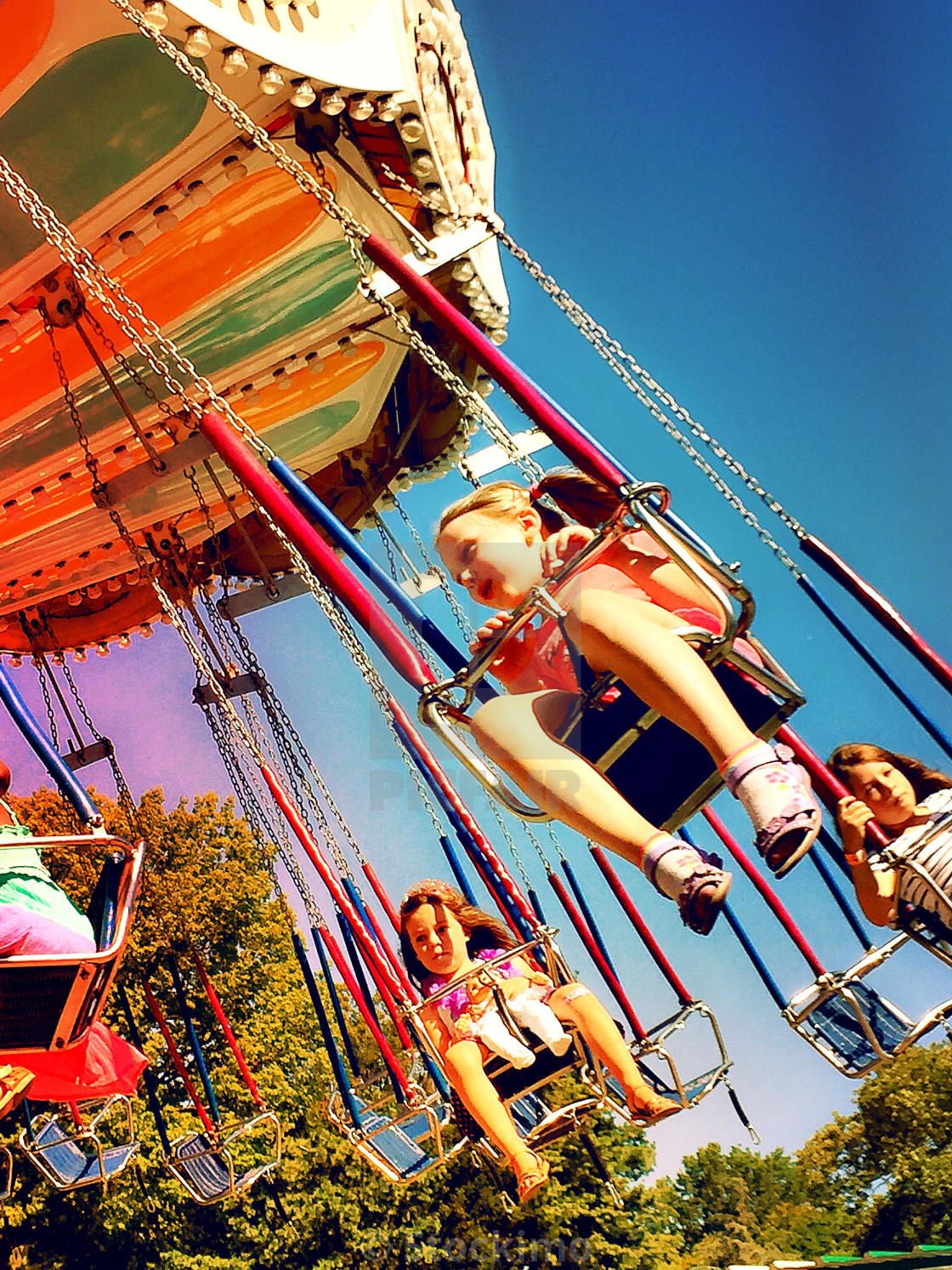 Carnival Swing Ride In Central Park At Victorian Gardens, NYC ...