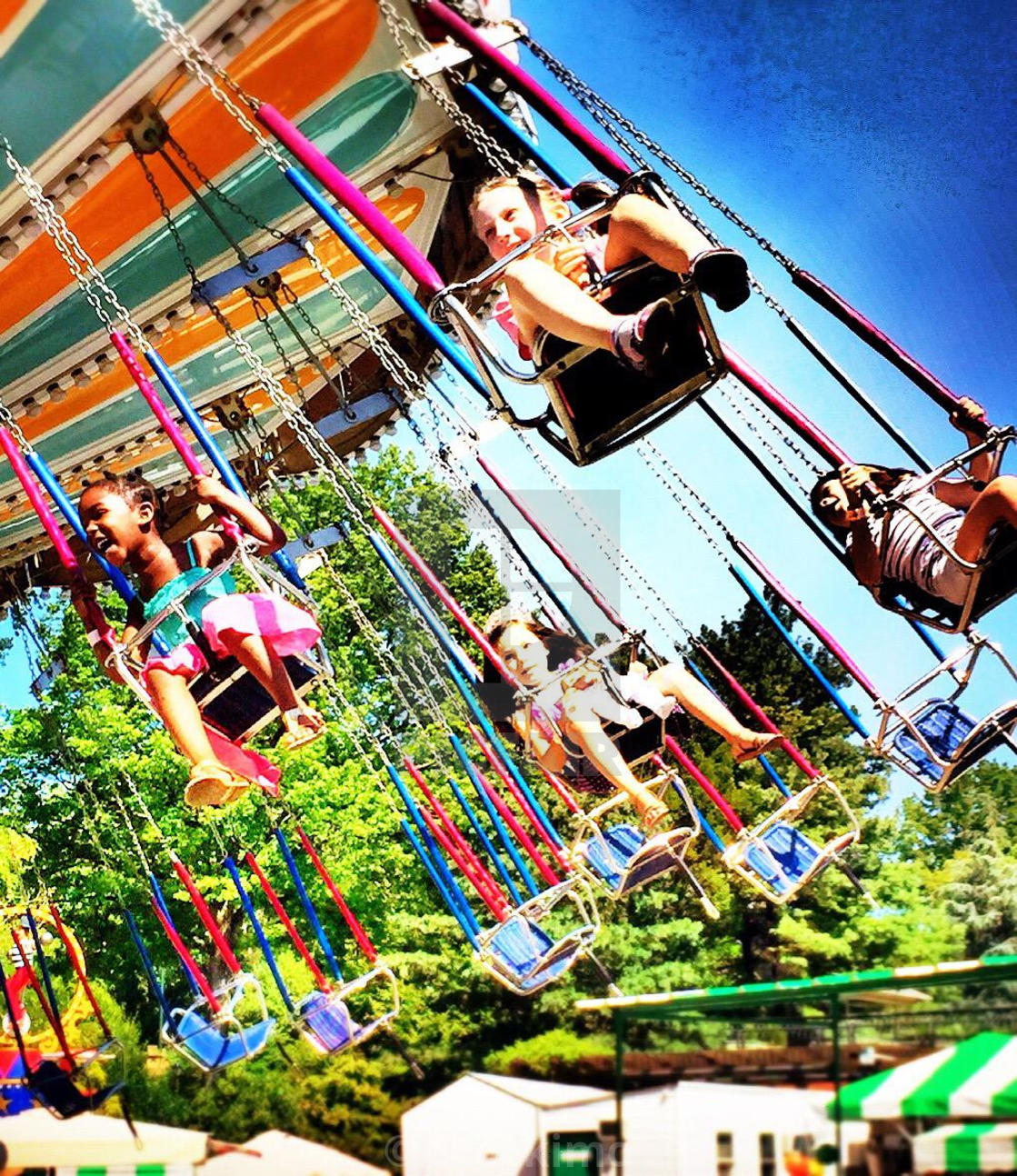 Carnival Ride In Central Park At Victoria Gardens, NYC   License For ...