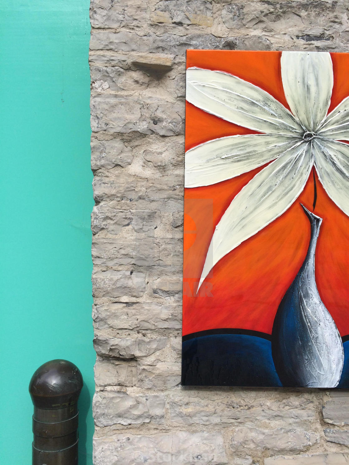 Painting Of Street Wall Quebec City Canada License Download Or
