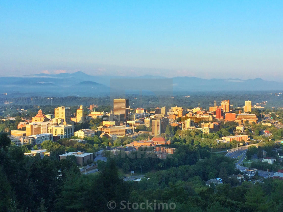 Sunrise Illuminates The City Of Asheville North Carolina