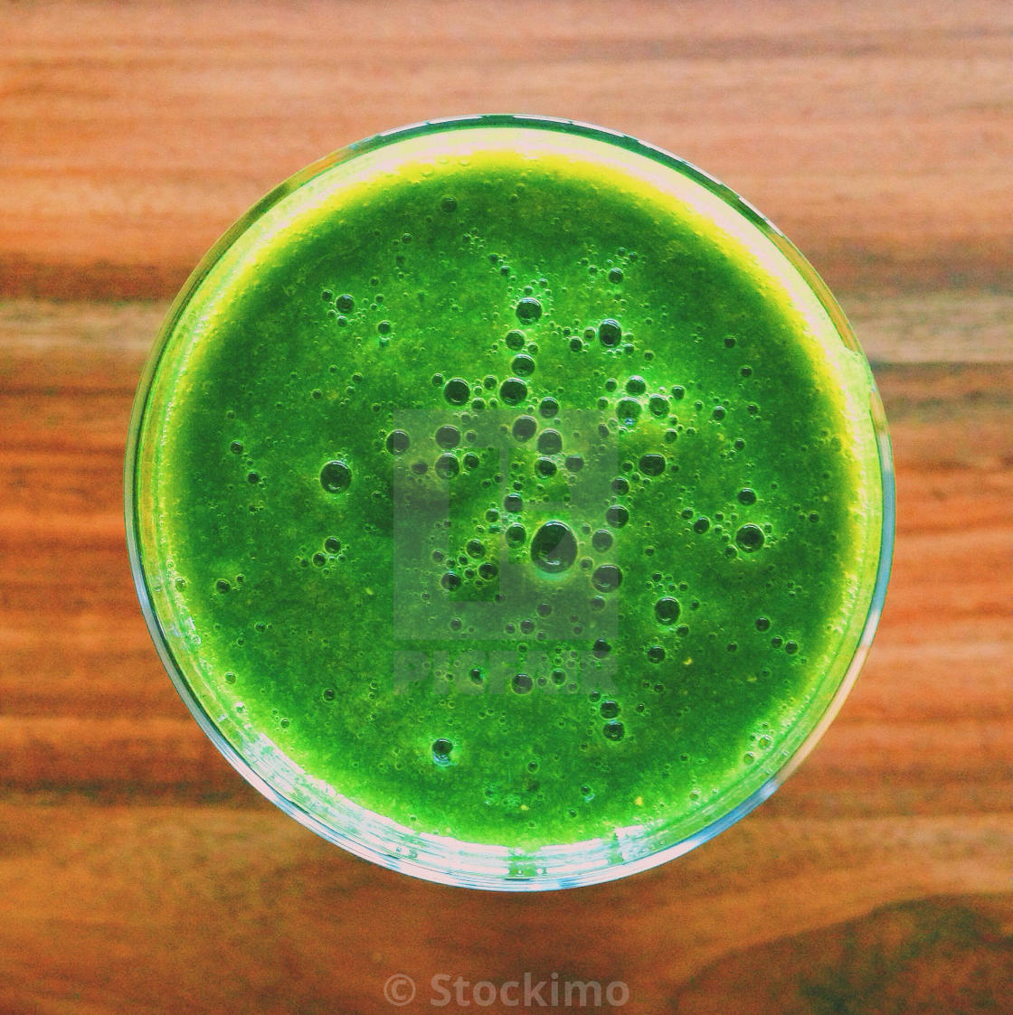 """Healthy green smoothie"" stock image"