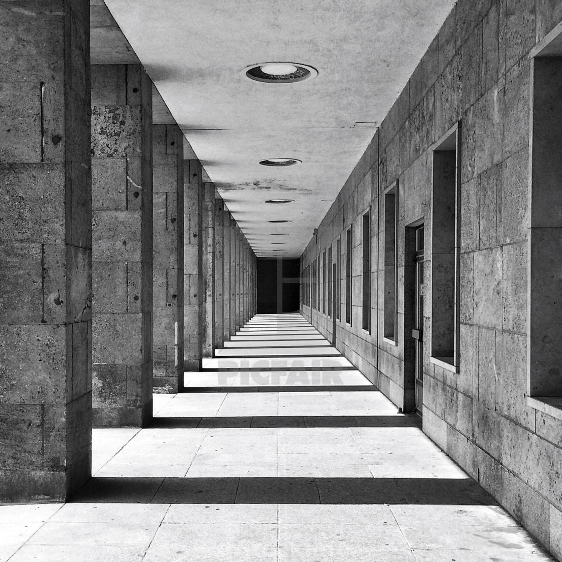 """Into the Dark. Perfect Symmetry"" stock image"