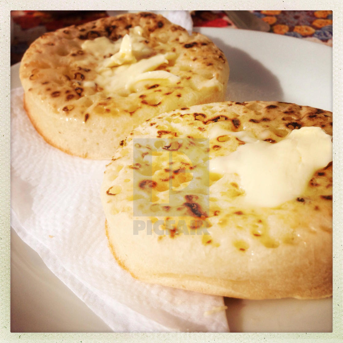 """""""Crumpets"""" stock image"""