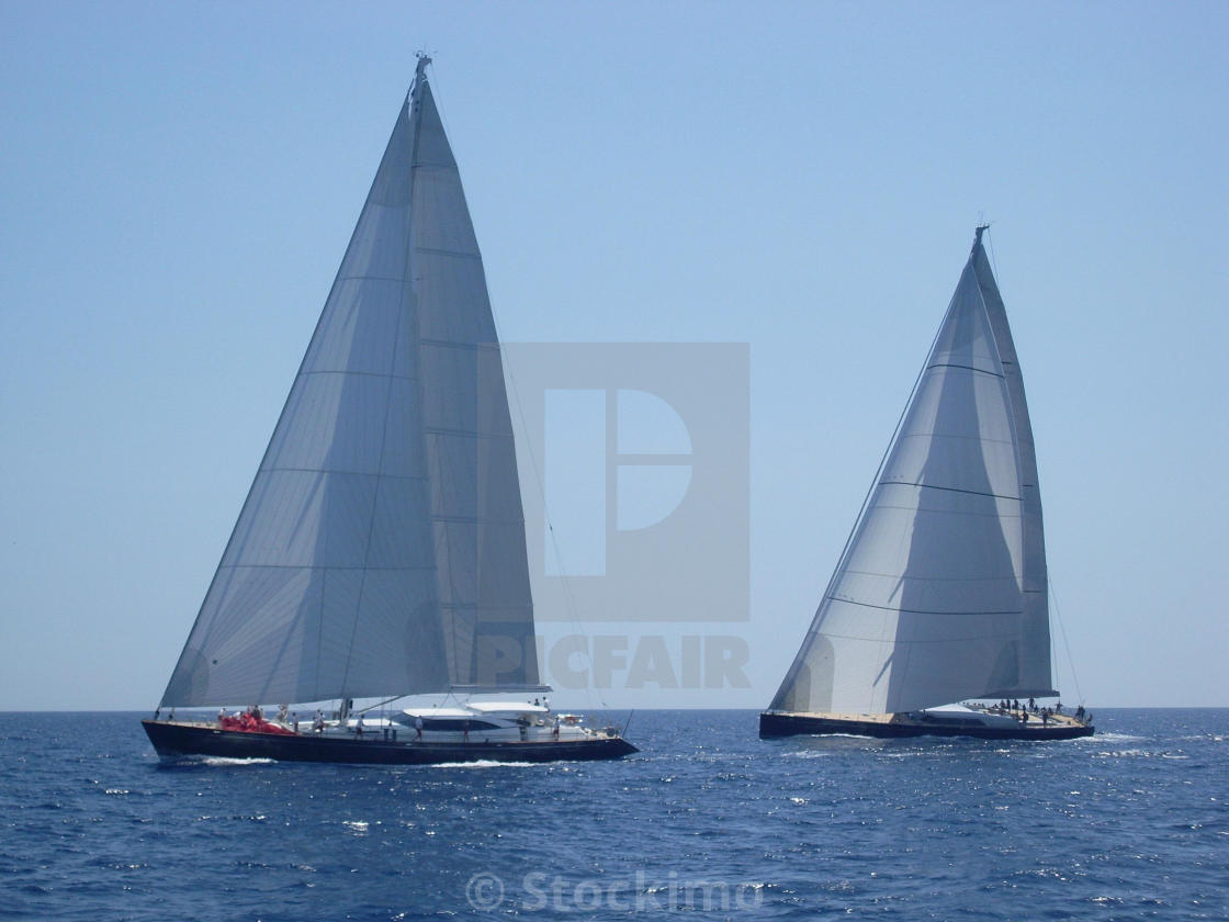 """The Superyacht cup regatta"" stock image"